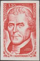 Andorre Français 1976 Y&T 255. Essai De Couleurs. Thomas Jefferson, Vigneron, œnophile, Franc-maçon Et 3ème Président - Independecia USA