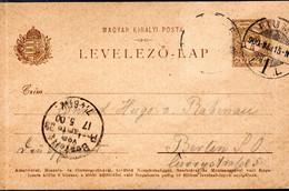 ENTIER POSTAL 1915 - POSTE A FIUME - CACHET POSTAL ARRIVEE BERLIN AU RECTO - - Fiume