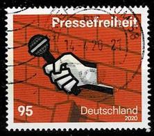 Bund 2020,Michel# 3515 O Pressefreiheit - Gebruikt