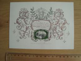 FAIRE-PART CARTE PORCELAINE DISTRIBUTION DE PRIX 17 AOUT 1842 LITH. DE G. JACMAIN GAND - Other