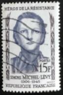 France - République Française - W1/12 - (°)used - 1958 - Michel 1195 - Verzetshelden - Simone Michel-Lévy - Usati