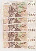5 X 1000 Frank Type Gretry - 1000 Francs