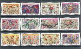Superbe Série Adhésive Nouveauté Motifs De Fleurs 2021 Oblitérée TTB - Adhesive Stamps