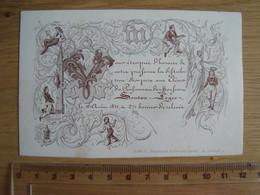 FAIRE-PART CARTE PORCELAINE DISTRIBUTION PRIX LITH. G. JACQMAIN GAND VERS 1840 - Other