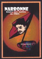 CPM Narbonne Tirage Signé 30 Exemplaires Numérotés Signés Par JIHEL 1988 Salon Manifeste De La Piraterie Gaston Couté - Narbonne