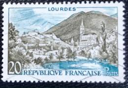 France - République Française - W1/13 - (°)used - 1958 - Michel 1186 - Lourdes - Usati