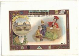 CHROMO PUBLICITAIRE PUBLICITE CHOCOLAT CACAO POULAIN JUSTICE N° 1 PARIS : MAGISTRATURE AVOCAT PALAIS DE JUSTICE TRIBUNAL - Poulain