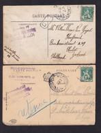 HOPITAUX 14/18 - UN DUO D' ENFER ! - 2 X Carte-Vue D''un Belge DINARD ST ENOGAT 1915 - Cachet HOPITAL Temporaire 23 - Armada Belga