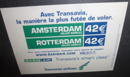 "Carte Postale ""Cart'Com"" (2001) Transavia Airlines (compagnie D'aviation) Amsterdam / Rotterdam - Advertising"