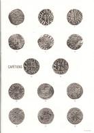 DOCUMENT ENCART FDC 1987 AVENEMENT HUGUES CAPET ET MONNAIES CAPETIENNES - Documents Of Postal Services