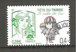 France 2013 Y&T 4809 Fête Du Timbre Le Timbre Fête L'air Oblitéré - Gebruikt