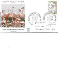 FRANCE N° 1634 SUR FDC FLAMANT ROSE - Flamingo