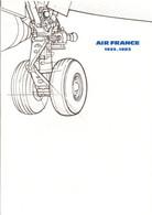 DOCUMENT ENCART FDC 1983 50 ANS D'AIR FRANCE - Documents Of Postal Services