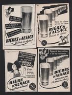 Lot De 8 Pub Toutes Différentes 1950 /60 Boisson Biere D'Alsace Brasserie Bières - Advertising