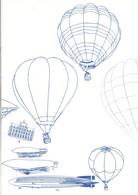 DOCUMENT ENCART 1983 BICENTENAIRE DE L'AIR ET DE L'ESPACE - Documents Of Postal Services