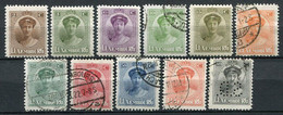 Luxemburg Nr.122/33               O  Used + *  Unused                   (435) - 1921-27 Charlotte Frontansicht