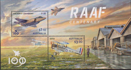 AUSTRALIA, 2021, MNH, PLANES, RAAF CENTENARY, ROYAL AUSTRALIAN AIR FORCE, SHEETLET - Airplanes