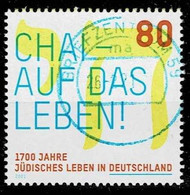 Bund 2021,Michel# 3588 O 1700 Jahre Jüdisches Leben In Deutschland - Oblitérés