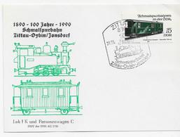 3620  Tarjeta  Zittau , 100 Jahre Schmaispurbahn Zittau-Oybin-Jonsdorf,  Tren - Trains