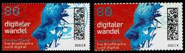 Bund 2021,Michel# 3590 + 3592 O Digitaler Wandel Nass- Und Selbstklebend - Gebruikt