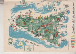 SICILIA CARTINA MAPPA MAP  NO VG - Non Classificati