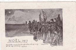 MILITARIA. GUERRE 1914- 18. NOEL 1917 . ILLUSTRATION DAVID BURNAND. + TEXTE - Guerre 1914-18