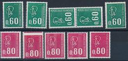 EC-626: FRANCE: Lot** Avec N°1815-1815a-1815b-1815c-1816-1816a-1816b-1816c-1816d - Unused Stamps