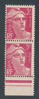 EC-627: FRANCE: Lot** Avec N°716f** (pt De Rouille) IMPRESSION SUR RACCORD - 1945-54 Marianne De Gandon
