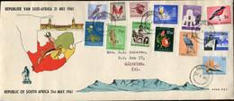 RSA - Republik Südafrika - 1st Definitive Issue - Full Set FDC - Flora, Fauna And Development - Brieven En Documenten