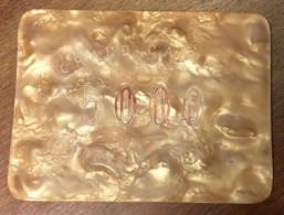 76 FORGES-LES-EAUX CASINO PLAQUE DE 5.000 FRANCS N° 25 JETON CHIP TOKENS COINS GAMING - Casino