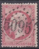FRANCE CLASSIQUE : EMPIRE N° 24 TRES BELLE OBLITERATION GC 5095 SALONIQUE - 1862 Napoleone III
