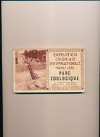 Carnet De 24 Cartes ( Complet ) Exposition Coloniale Internationale Paris 1931 Parc Zoologique - Exhibitions