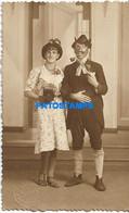 165798 REAL PHOTO COSTUMES CARNIVAL DISGUISE COUPLE GAY POSTAL POSTCARD - Fotografia