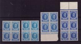 LOT HOUYOUX ** N° 257 BLOC DE 4 ET 6  à 49,90 (lire ) - 1922-1927 Houyoux