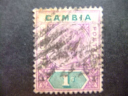 GAMBIA GAMBIE 1898 REINA VICTORIA (QUEEN VICTORIA) YVERT 27 FU Wmk CROWN CA - Gambia (...-1964)