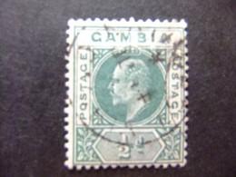 GAMBIA GAMBIE 1901-1905 REY EDUARDO VII ( KING EDWARD VII) YVERT 28 FU Wmk CROWN CA - Gambia (...-1964)