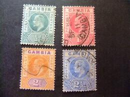 GAMBIA GAMBIE 1905 REY EDUARDO VII ( KING EDWARD VII) Yvert 40/43 FU Wmk CROWN CA Multiple - Gambia (...-1964)