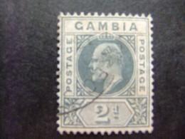 GAMBIA GAMBIE 1909 REY EDUARDO VII ( KING EDWARD VII) Yvert 54 FU Wmk CROWN CA Multiple - Gambia (...-1964)