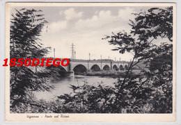VIGEVANO - PONTE SUL TICINO F/GRANDE VIAGGIATA 1939? - Vigevano