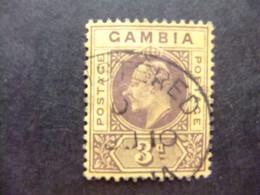 GAMBIA GAMBIE 1909 REY EDUARDO VII ( KING EDWARD VII) Yvert 55 FU Wmk CROWN CA Multiple - Gambia (...-1964)