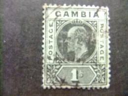 GAMBIA GAMBIE 1909 REY EDUARDO VII ( KING EDWARD VII) Yvert 61 FU Wmk CROWN CA Multiple - Gambia (...-1964)