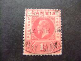 GAMBIA GAMBIE 1912 - 1922 REY JORGE V ( KING GEORGE V) Yvert 67 FU Wmk CROWN CA Multiple - Gambia (...-1964)