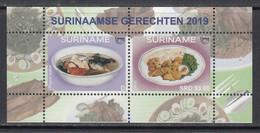 2019 Surinam Suriname Upaep Local Food Cuisine Gastronomie Souvenir Sheet MNH - Suriname