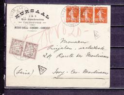 FRANCE PNEUMATIQUE 138*3 + TAXE - 1921-1960: Modern Tijdperk