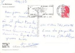 Flamme P.H. Jeanne D'Arc  Sur Carte Postale De La Martinique  04/89 - Naval Post