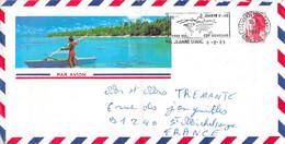 Flamme P.H. Jeanne D'Arc  Sur Enveloppe Polynésie   02/89  Recto Verso - Naval Post