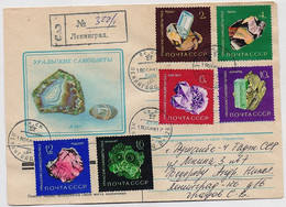 MAIL Post Cover USSR RUSSIA Set Stamp Mineral Cristal Ural Amethyst Agate Amazonite - Covers & Documents