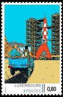 Timbre Privé** - Kuifje/Tintin - Milou/Bobbie - Haddock - Objectif Lune / Raket Naar De Maan / Reiseziel Mond - Coches