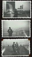3 Photos Originales 10,5 X 6,5 Cm - 1935 - Ostende - L'Hydro - Voir Scan - Places