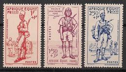 AEF - 1941 - N°Yv. 87 à 89 - Défense De L'empire - Série Complète - Neuf Luxe ** / MNH / Postfrisch - Unused Stamps